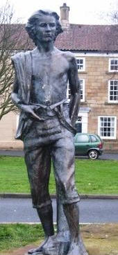 James Cook on High Green, Great Ayton