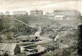 Saltburn from Cat Nab 1885 showing the newly built Assembly Hall