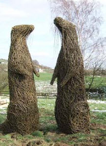 Sculptures at the Moors Centre, Danby