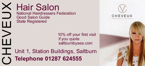 Cheveux Hair Salon, ladies and gents hairdressers, Saltburn